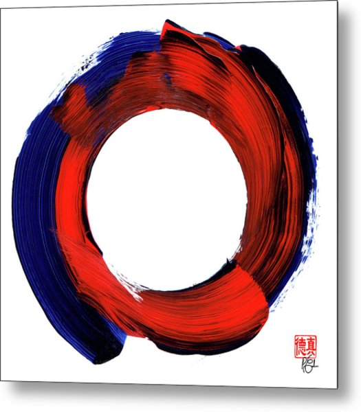 Color Zen Circle Metal Print
