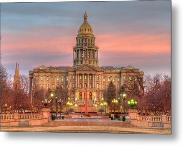 Colorado Capital Metal Print