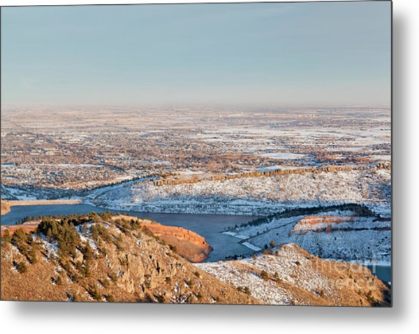 Colorado Front Range And Plains Metal Print
