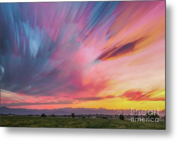 Colorado Front Range Crazy Sunset Timed Stack Metal Print by James BO Insogna