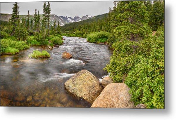 Colorado Indian Peaks Wilderness Creek Panorama Metal Print