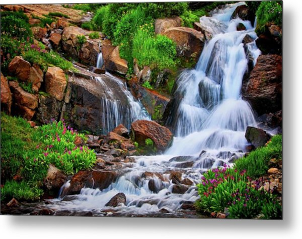 Colorado Mountain Stream, Indian Peaks Wilderness Metal Print