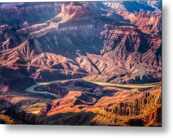 Colorado River Winding Thru Grand Canyon Metal Print