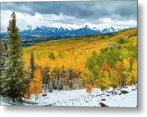 Colorado Valley Of Autumn Color Metal Print