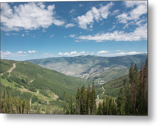 Colorado Vista From Trail To Beaver Lake Metal Print