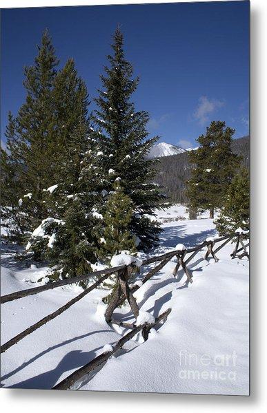 Colorado Winter Wonderland Metal Print