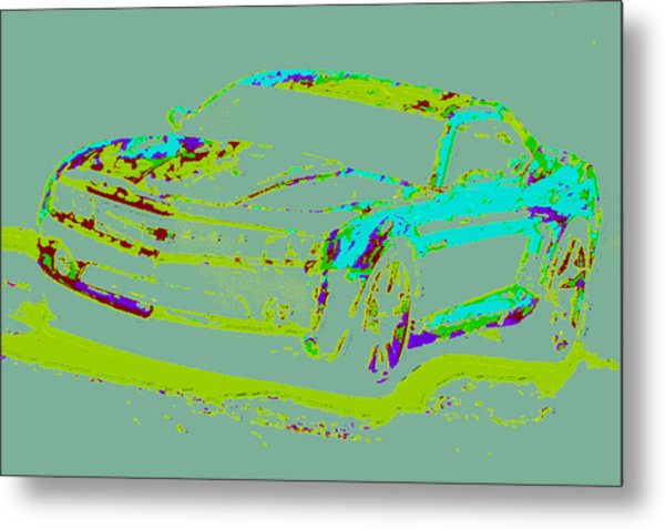 Colored Chevy D4 Metal Print by Modified Image