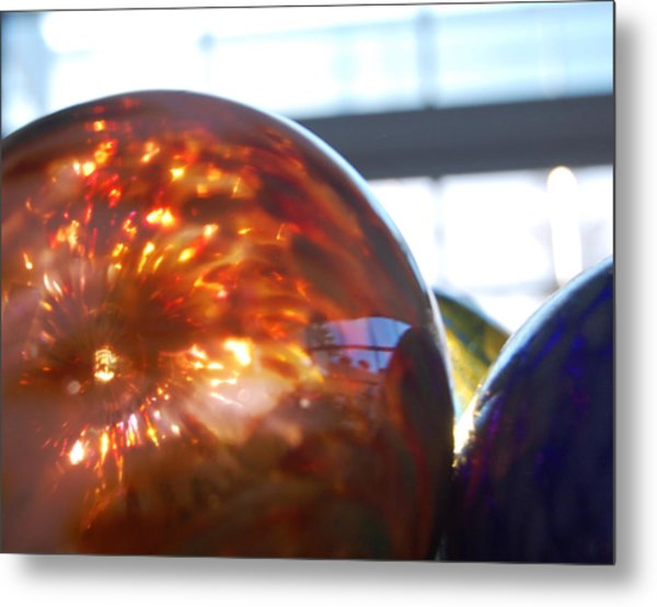 Colored Glass Universe Metal Print by Jean Booth
