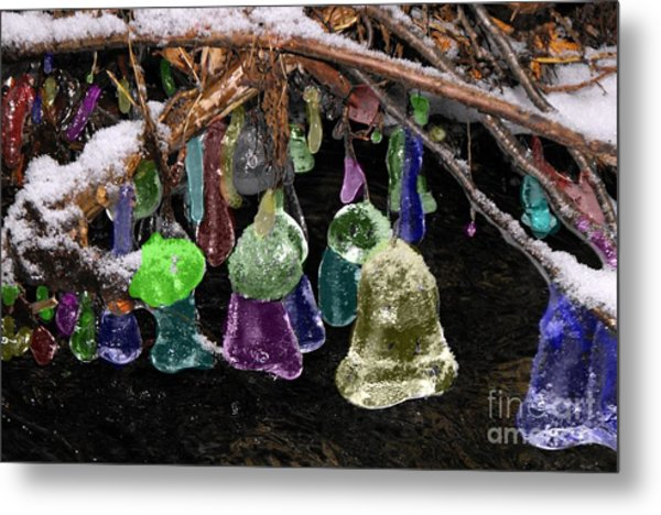 Colored Ice Bells Metal Print