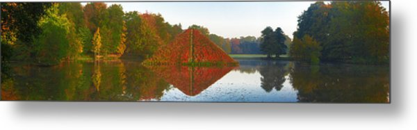 Colored Lake Pyramid Metal Print