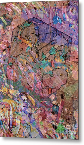 colorful abstract art - Flying Cube Metal Print