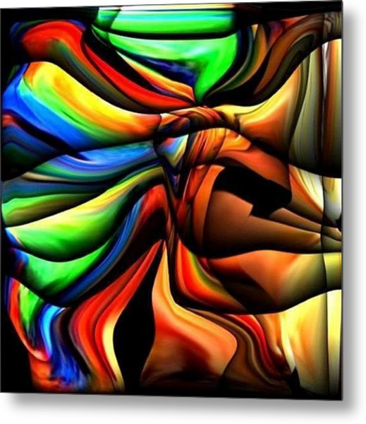 Colorful Abstract1 Metal Print by Teo Alfonso