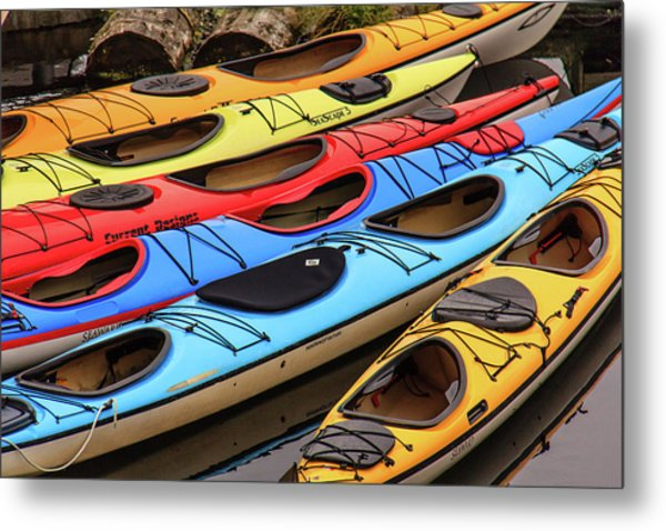 Colorful Alaska Kayaks Metal Print