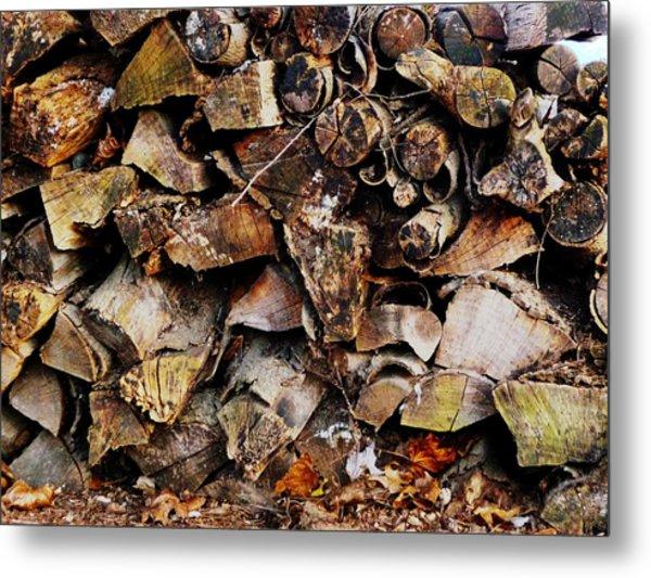 Colorful Autumn Logs Metal Print