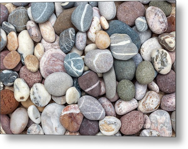 Metal Print featuring the photograph Colorful Beach Pebbles by Elena Elisseeva