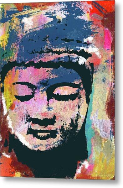 Colorful Buddha 1- Art By Linda Woods Metal Print