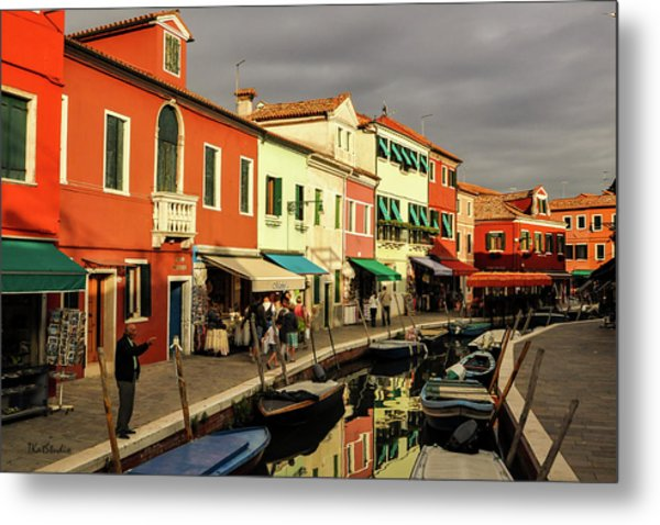 Colorful Burano Metal Print