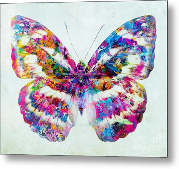 Colorful Butterfly Art Metal Print