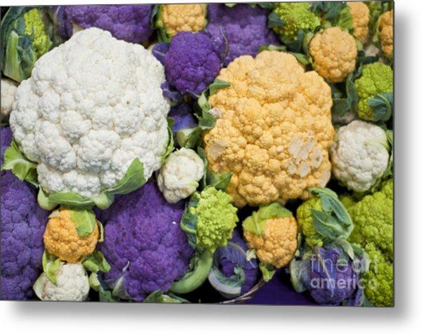 Colorful Cauliflower Metal Print