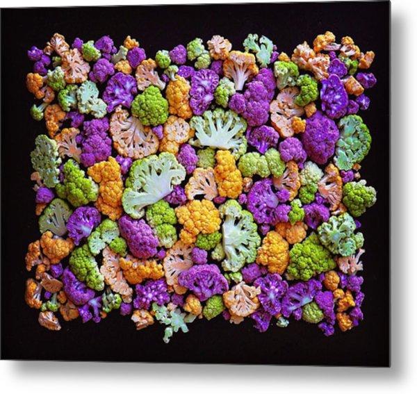 Colorful Cauliflower Mosaic Metal Print