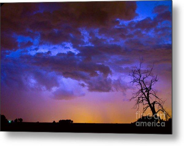 Colorful Cloud To Cloud Lightning Metal Print