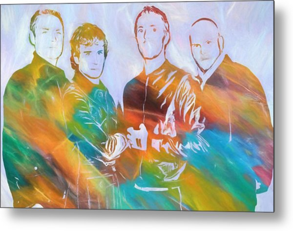 Colorful Coldplay Metal Print