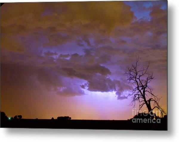 Colorful Colorado Cloud To Cloud Lightning Thunderstorm 27 Metal Print