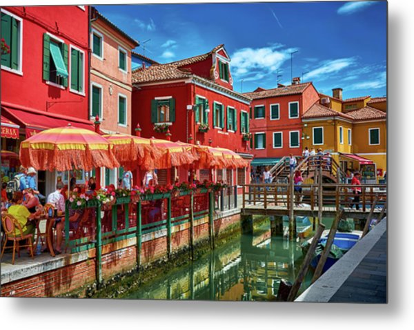 Colorful Day In Burano Metal Print