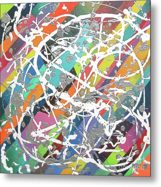 Colorful Disaster Aka Jeremy's Mess Metal Print