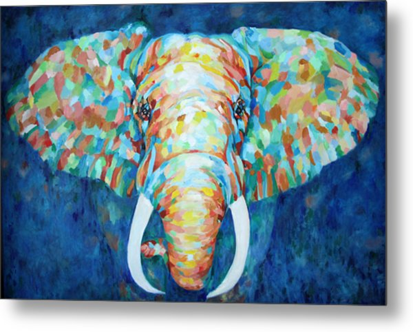 Colorful Elephant Metal Print