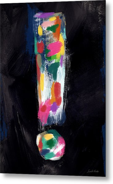 Colorful Exclamation Point- Art By Linda Woods Metal Print