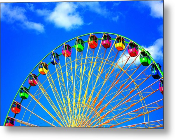 Colorful Ferris Wheel Metal Print