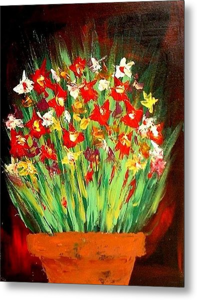 Colorful Flowers Metal Print by Teo Alfonso