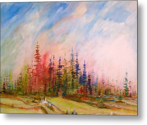 Colorful Forest Metal Print by Gunter Kreil