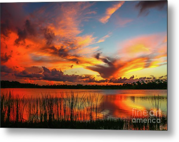 Colorful Fort Pierce Sunset Metal Print