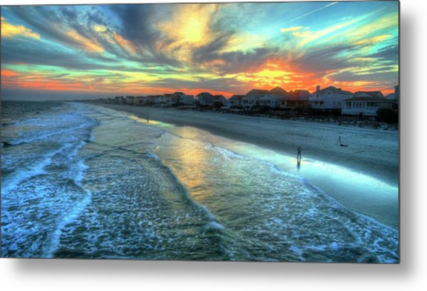 Colorful Garden City Sunset Metal Print by Robbie Bischoff