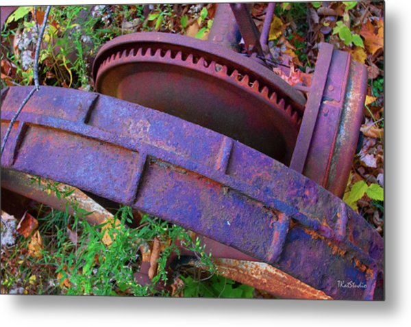 Colorful Gear Metal Print
