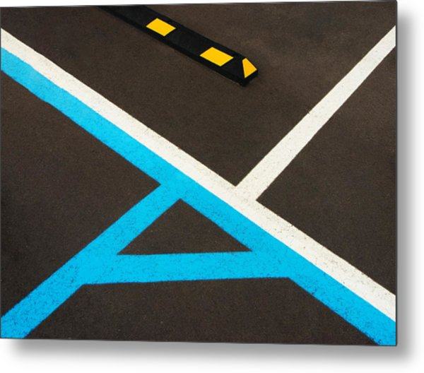 Colorful Geometry In The Parking Lot Metal Print