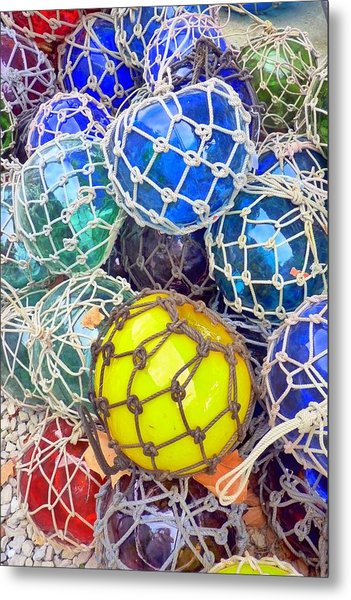 Colorful Glass Balls Metal Print