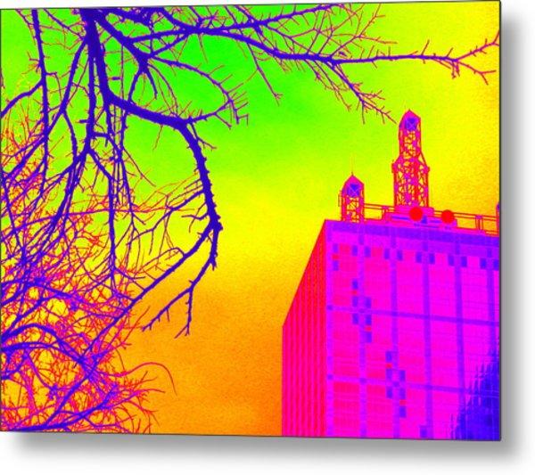 Dallas In Vivid Colors Metal Print