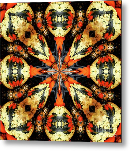 Colorful Gourds Abstract Metal Print