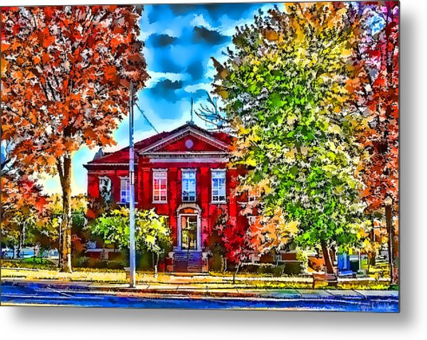 Colorful Harrison Courthouse Metal Print