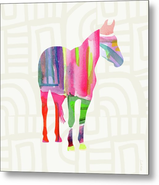 Colorful Horse 2- Art By Linda Woods Metal Print