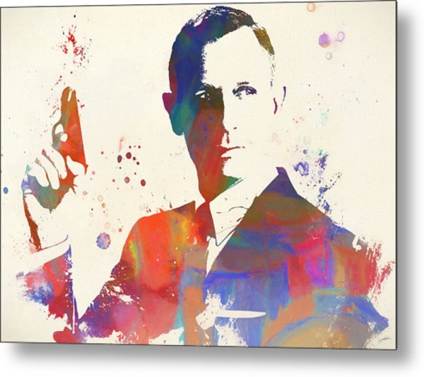 Colorful James Bond Paint Metal Print