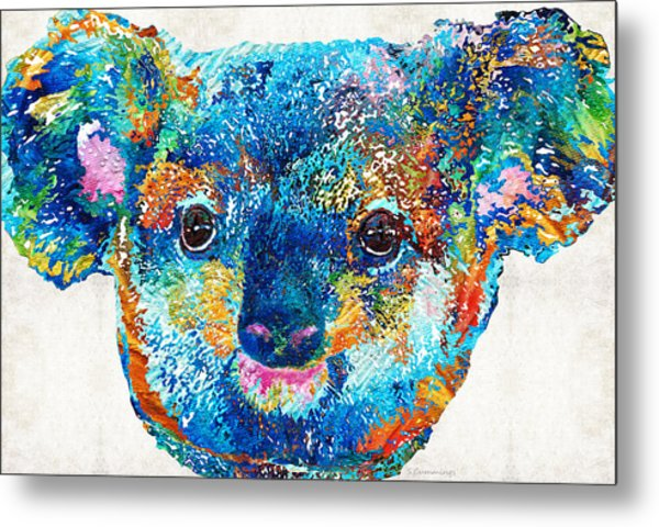 Colorful Koala Bear Art By Sharon Cummings Metal Print