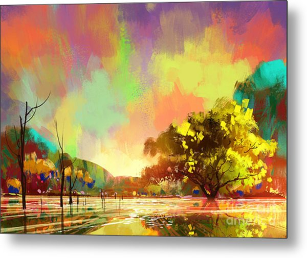 Colorful Natural Metal Print