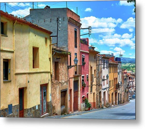 Colorful Old Houses In Tarragona Metal Print