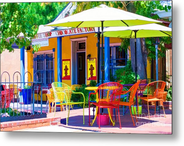 Colorful Old Town 2 Metal Print