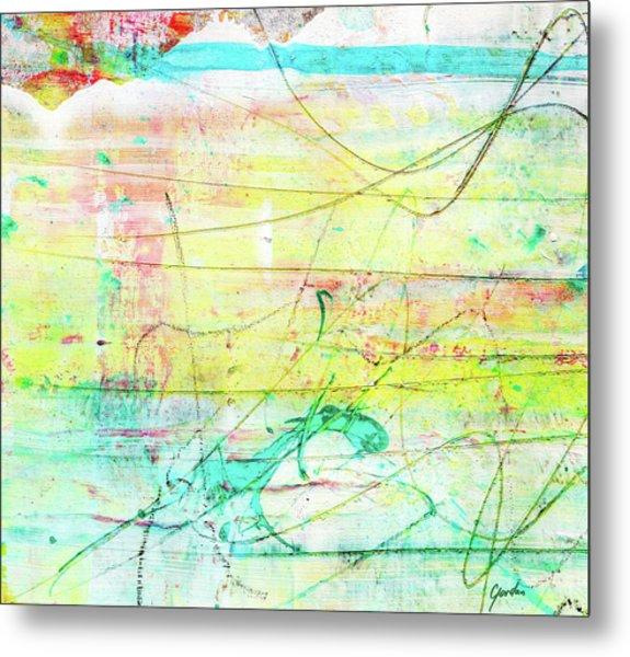 Colorful Pastel Art - Mixed Media Abstract Painting Metal Print