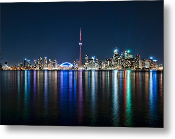 Colorful Reflections Of Toronto Metal Print